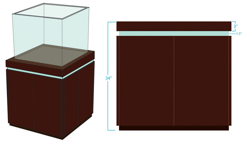 designed the stand to match our kitchen cabinets backsplash